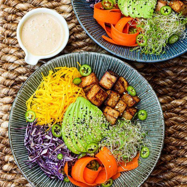 Yuzu Ponzu Tofu Buddha Bowl