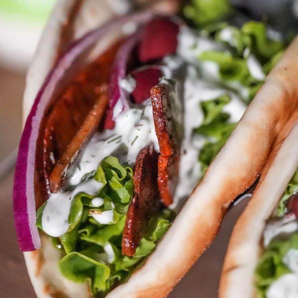 Vegan Gyro with Tzatziki Sauce